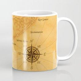 Vintage Nautical Florida Keys Map Coffee Mug