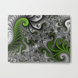 Fantasy World, abstract Fractal Art Metal Print