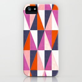 a harlequin party in pink! iPhone Case