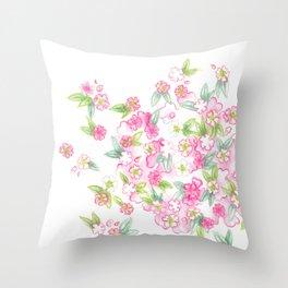 Martha's Flowers Throw Pillow