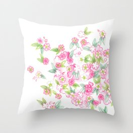 Martha's Flowers Throw Pillow