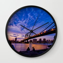 The Sunset of Hometown - NYC  Wall Clock