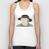 scandinavian Tank Tops featuring Scandinavian fisherman by Design4u Studio