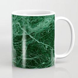 Dark emerald marble texture Coffee Mug