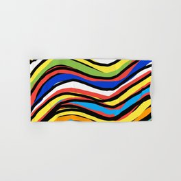 Wavy Colors Pattern Hand & Bath Towel