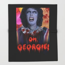 "Rocky Horror - ""IT"" - Sweet TransvestITe Throw Blanket"