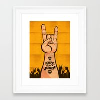 rock and roll Framed Art Prints featuring Rock & Roll by Rodrigo Molina