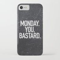 xbox iPhone & iPod Cases featuring Monday You Bastard by Text Guy