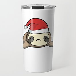 Wake Me Up When It's Slothmas Sloth Candy Cane Travel Mug