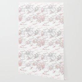 Rose Gold Pink & Grey Marble Wallpaper