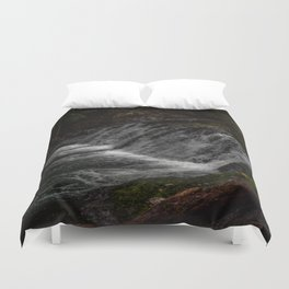 Hidden Turtle Waterfall Duvet Cover