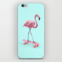 SKATE FLAMINGO iPhone Skin