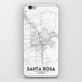 Minimal City Maps - Map Of Santa Rosa, California, United States iPhone Skin
