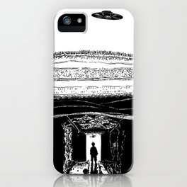 UFO Hovers High Above Underground Mining Tunnels - BNW iPhone Case