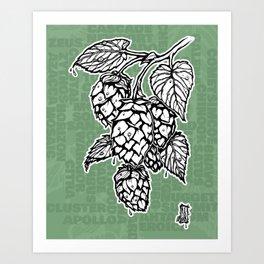 Hops (US Version) Art Print