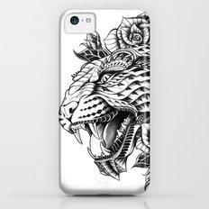 Ornate Leopard Black & White Variant iPhone 5c Slim Case