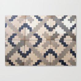 Vintage tile pattern Canvas Print