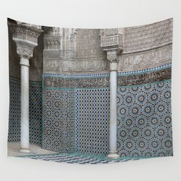 Marocco Columns Mosaic Wall Tapestry