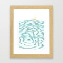On The Waves Framed Art Print