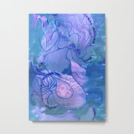 Mermaid's games Metal Print
