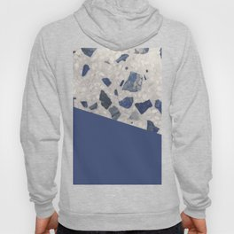 Terrazzo Texture Dark Blue #2 Hoody