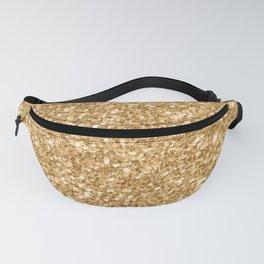 Trendy Gold Glitter Texture Print Fanny Pack