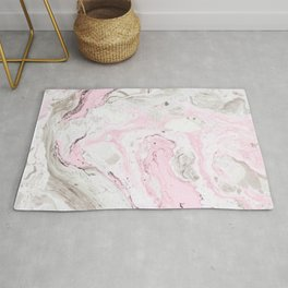 Pink and gray marble Rug