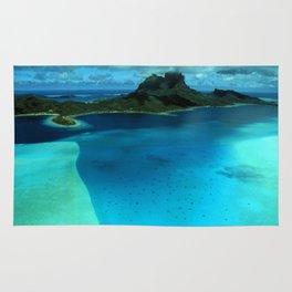 Bora Bora Lagoon Aerial Rug