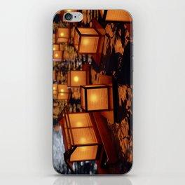 Japanese floating lantern iPhone Skin