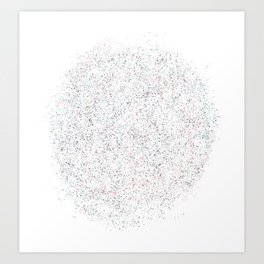 Splattered Specks Art Print