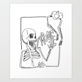SKELLY AROUSE Art Print