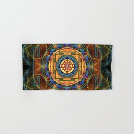 The Sri Yantra - Sacred Geometry Hand & Bath Towel