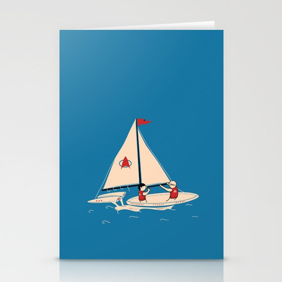 Sailing Towards Future Unknowns Stationery Cards
