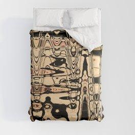 Black and Cream Pattern Art Comforters