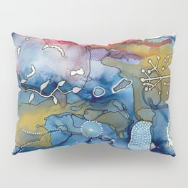Reef of Rose and Prussian Pillow Sham