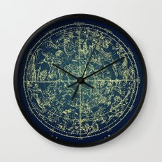 Zodiac Star Map Wall Clock