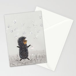 Hedgehog in the Fog fly like butterflies Stationery Cards