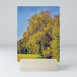 Trees Along the Shore Mini Art Print