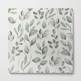 Beautiful Leaf Pattern II Metal Print