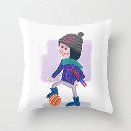 Birthday Girl 3 Throw Pillow