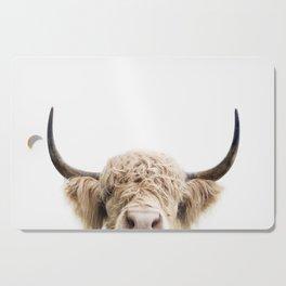 Peeking Highland Cow Cutting Board