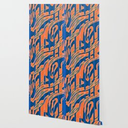 Blaze - Blue and Orange Wallpaper