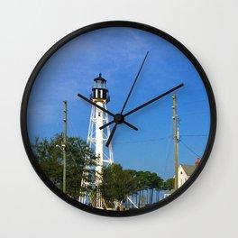 Port St Joe Lighthouse Wall Clock