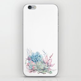 Pretty Pastel Succulents iPhone Skin
