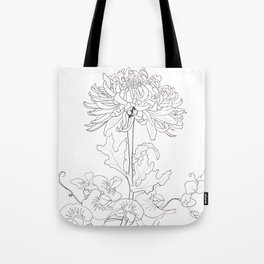 Flora of Lighthearted Living - Color or Paint Your Own! Tote Bag
