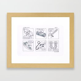 a dada comic Framed Art Print