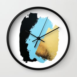 Black, Blue, Gold Wall Clock