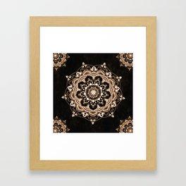 Glowing Spirit Black White Mandala Design Framed Art Print