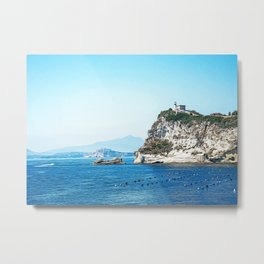 Gulf of Naples seacoast in summer Metal Print