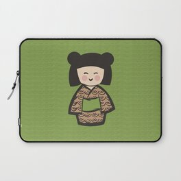 Geisha Dress Code (green) Laptop Sleeve